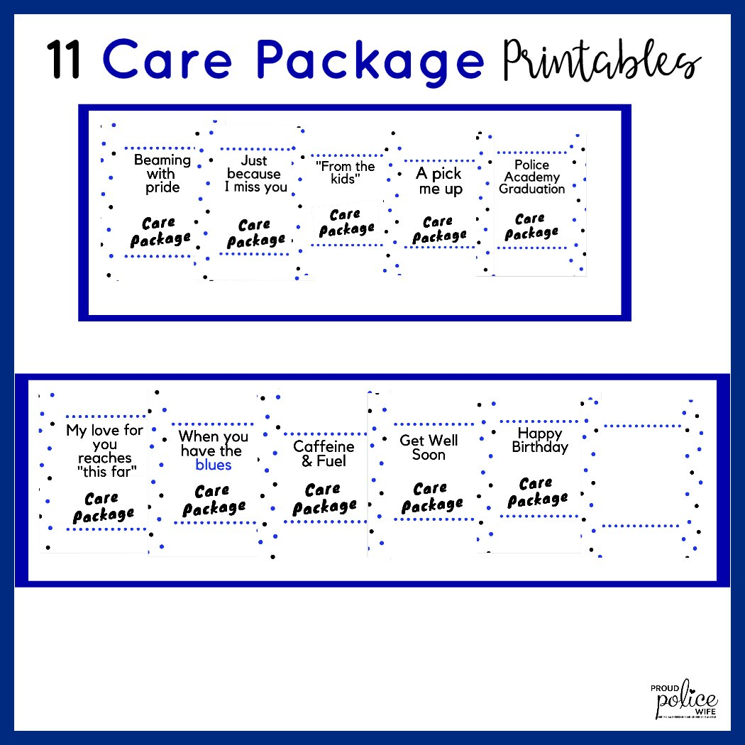 10 easy ideas for police academy care packages + how to make
