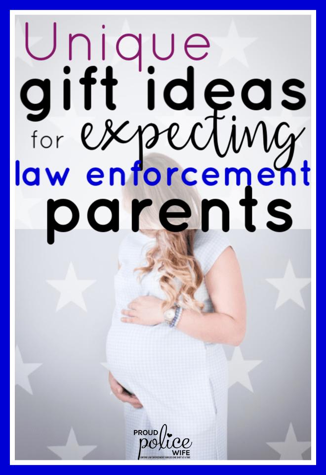 Unique gift ideas for expecting law enforcement parents