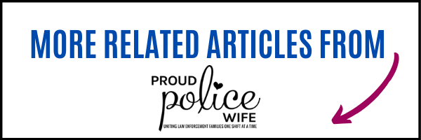 Thank A Police Officer Day Ideas from proudpolicewife.com